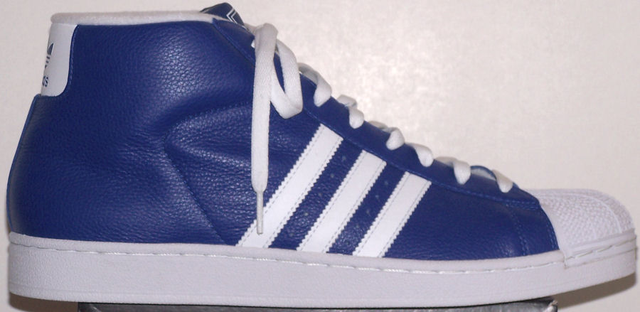 blue adidas superstar high top
