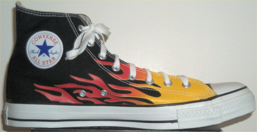 flame high top converse