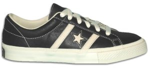 Converse Academy (leather All-Star reissue), black with white star and stripes