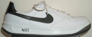 "Nike ""Ace 83"" tennis shoe, white with black SWOOSH"