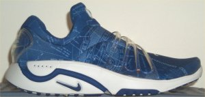 Nike Air Trainer Escape slip-on in blue with blueprint printing