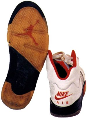 Air Jordan 5, heel and sole view