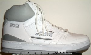 AVIA 830 high-top basketball shoe: white with gray trim