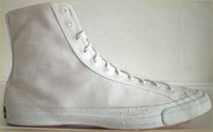 Bata Bullets high-top in white canvas