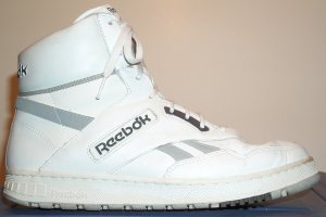 Reebok BB4600 classic basketball sneaker: white leather, natural trim