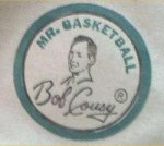 "Ankle patch from classic ""Bob Cousy"" canvas high-top basketball sneakers"