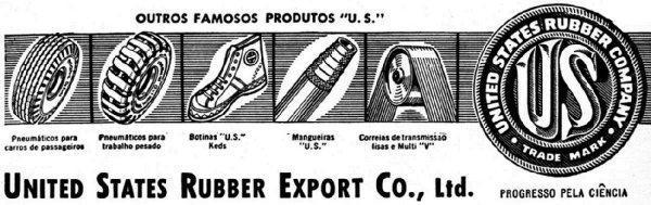 United States Rubber Company products for export, including high-top KEDS sneakers