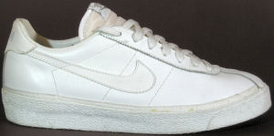 Nike Bruin in white leather with white SWOOSH