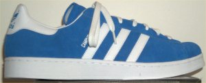 adidas Campus retro basketball shoe in Bluebird with white stripes