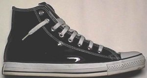 "Vinyl Converse ""Chuck Taylor"" All Star, black high-top sneaker"