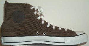 "Converse ""Chuck Taylor"" All Star dark brown corduroy high-top sneaker"