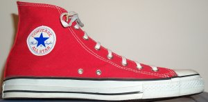 "Converse ""Chuck Taylor"" All Star red high-top"