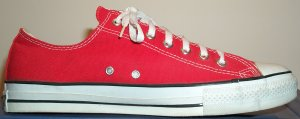 "Converse ""Chuck Taylor"" All Star low-tops in red canvas"