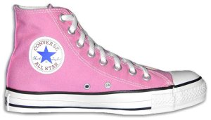 "Converse ""Chuck Taylor"" All-Star pink high-tops"