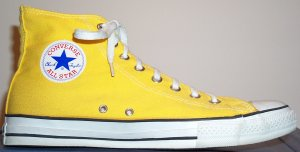 "Converse ""Chuck Taylor"" All Star yellow high-top"