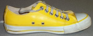 "Converse ""Chuck Taylor"" All Star low-top sneaker in yellow vinyl"