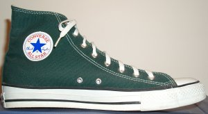 "Converse ""Chuck Taylor"" All Star pine green high-top sneaker"