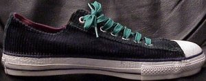 "Converse ""Chuck Taylor"" All Star dark green corduroy low-top sneaker"