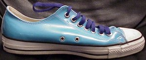 "Converse ""Chuck Taylor"" All Star low-top in light blue vinyl"