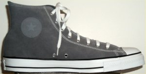 "Converse ""Chuck Taylor"" All Star high-top sneaker in charcoal gray suede"