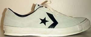 Converse 'star and chevron' suede sneaker in natural and black