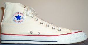 "Converse ""Chuck Taylor"" All Star white high-top basketball shoe"