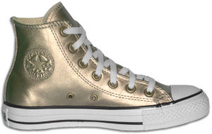 "Converse ""Chuck Taylor"" All Star high-top sneaker in gold metallized fabric"
