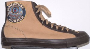 "Converse ""Chuck Taylor"" Leather Premium Vintage 1908 high-top sneakers in tan/chocolate"