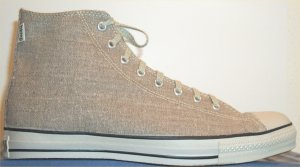 Converse All Star Hemp High sneaker in Khaki, flip side