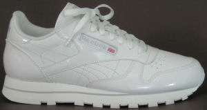 Reebok Classic Leather in white patent leather