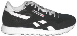 Reebok Classic Nylon shoe in black