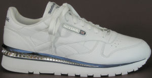Reebok Classic Leather Streak III Chrome in white with silver and blue trim