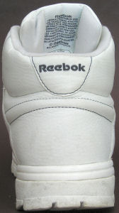 Reebok Classic Exertion Ripple Mid in white, heel view
