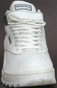 Reebok Classic Exertion Mid in white, front view