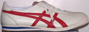 Onitsuka Tiger Corsair Memorial - white with red stripes and blue midsole trim