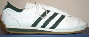 The adidas Country shoe with classic green stripes