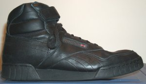 Reebok Ex-O-Fit black high-top fitness shoe for guys (reinforced construction)