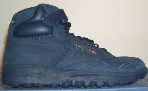 Reebok Ex-O-Fit navy blue nubuck high-top fitness shoe for guys (lug sole)