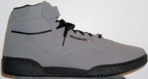 Reebok Ex-O-Fit Absolute SE gray nubuck high-top fitness shoe for guys