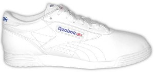 Reebok Ex-O-Fit white leather low-top fitness shoe for guys