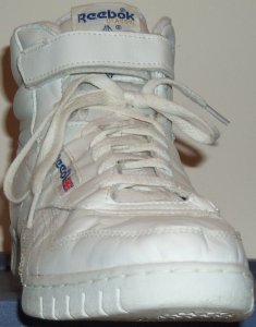 Reebok Ex-O-Fit white high-top, front view