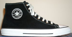 "Converse ""EZ Chuck"" high-top sneaker in black (outside view)"