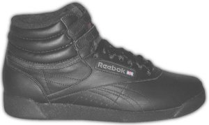 Reebok Freestyle black high-top aerobic shoe for the gals