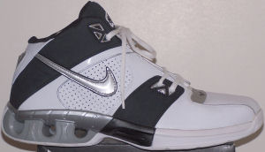 Nike Impax Dime basketball shoe - white and black with silver SWOOSH