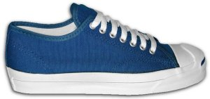 Blue Jack Purcell canvas sneaker