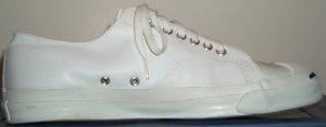 Jack Purcell sneaker in white glove leather