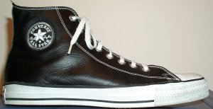 "Converse ""Chuck Taylor"" All Star Jewel Leather black high-top sneaker"