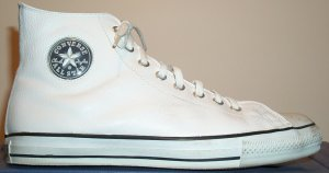 "Converse ""Chuck Taylor"" All Star Jewel Leather white high-top sneaker"