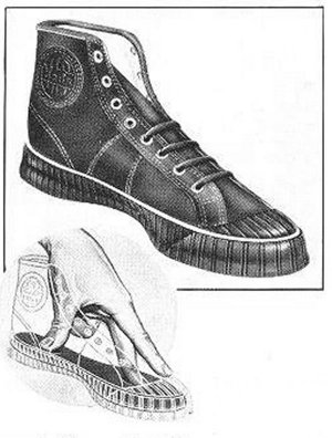 Cross-section of the 1934 'Keds Shockproof Insole'