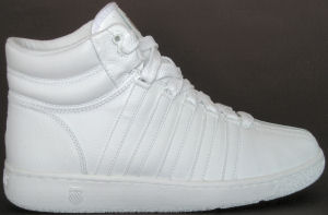 "K-Swiss ""Classic Luxury Edition"" high-top sneaker (all white)"